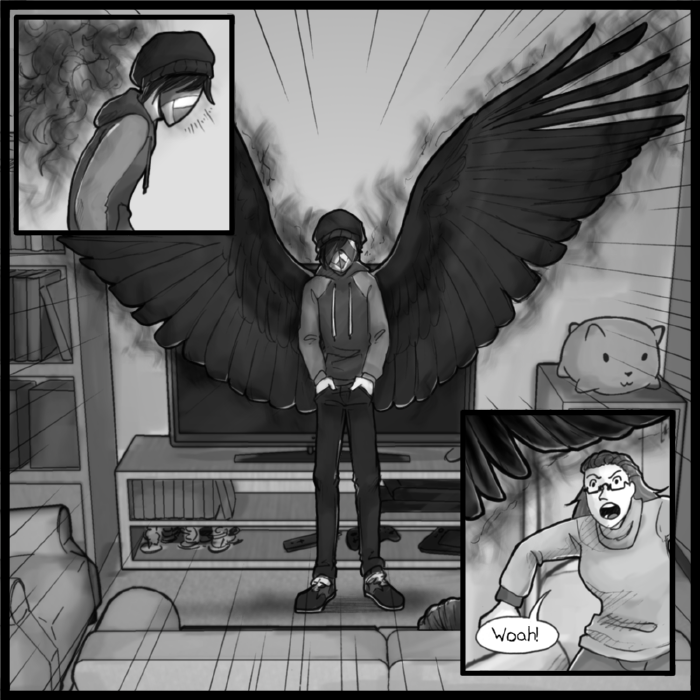 This page is great it's everyone's favorite page I love drawing wings omg